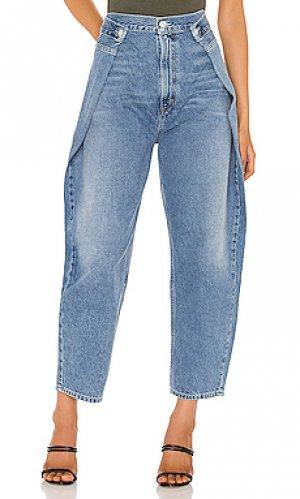 Широкие джинсы baggy AGOLDE. Цвет: синий