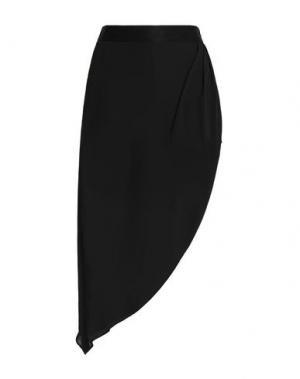 Мини-юбка HAUTE HIPPIE. Цвет: черный