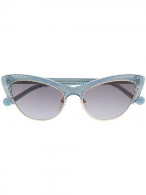 Солнцезащитные очки в оправе кошачий глаз LIU JO. Цвет: синий