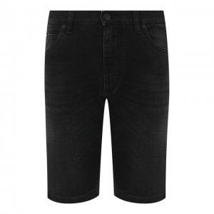 Джинсовые шорты Dolce & Gabbana. Цвет: чёрный