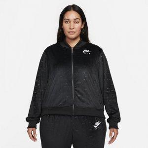 Женская куртка Air Velour (большие размеры) - Черный Nike