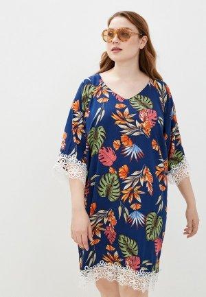 Платье Naturel. Цвет: синий