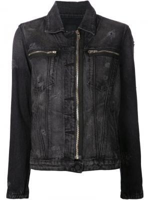 Джинсовая куртка на молнии Rta. Цвет: чёрный