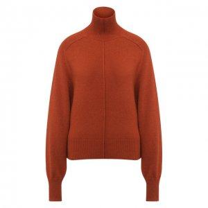 Кашемировый пуловер с высоким воротником Chloé. Цвет: коричневый