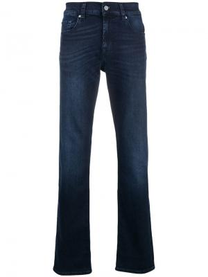 Luxe performance straight leg jeans 7 For All Mankind. Цвет: синий