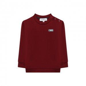 Хлопковый свитшот Emporio Armani. Цвет: красный