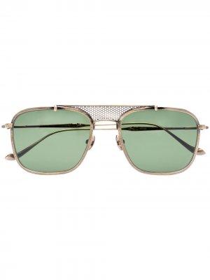 Солнцезащитные очки в квадратной оправе Matsuda. Цвет: нейтральные цвета
