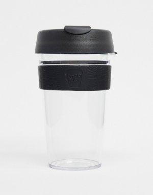 Черная многоразовая кружка объемом 16 унций KeepCup Original-Бесцветный Keep Cup