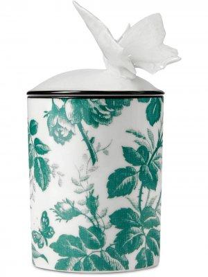 Свеча с бабочкой Herbosum Herbarium Gucci. Цвет: белый