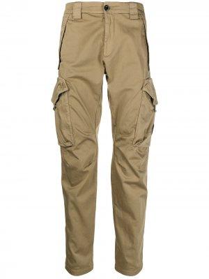 Узкие брюки карго C.P. Company. Цвет: нейтральные цвета