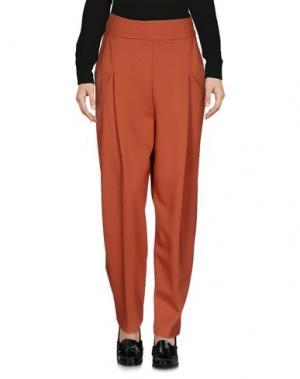 Повседневные брюки ANIYE BY. Цвет: ржаво-коричневый