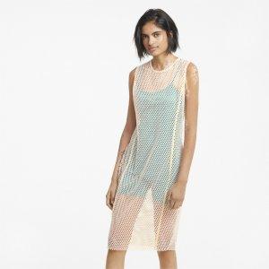 Платье Evide Mesh Womens Dress PUMA. Цвет: розовый