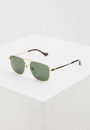 Очки солнцезащитные Gucci GG0743S 004. Цвет: зеленый