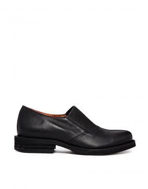 Кожаные туфли на плоской подошве Gardenia. Цвет: natur batido black