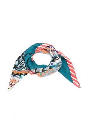 Платок F.FRANTELLI. Цвет: персиковый,голубой,синий