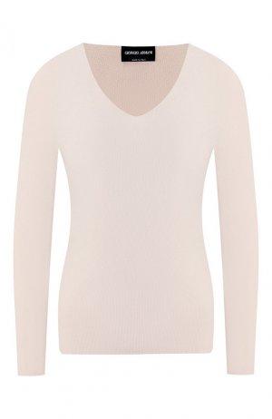 Пуловер из вискозы Giorgio Armani. Цвет: бежевый