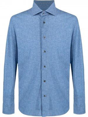 Рубашка с длинными рукавами Corneliani. Цвет: синий