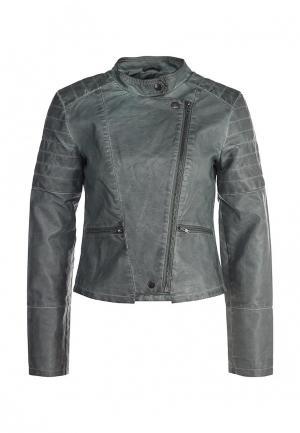 Куртка кожаная Ichi. Цвет: зеленый