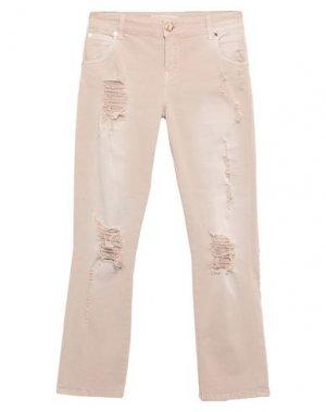 Джинсовые брюки G.SEL. Цвет: бежевый