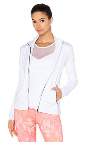 Мото куртка alo. Цвет: белый