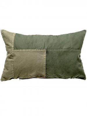 Подушка в технике пэчворк BasShu. Цвет: зеленый
