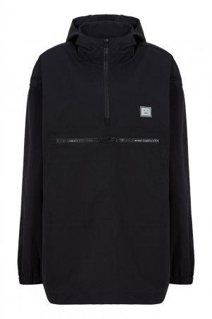 Черный анорак с капюшоном Acne Studios. Цвет: черный