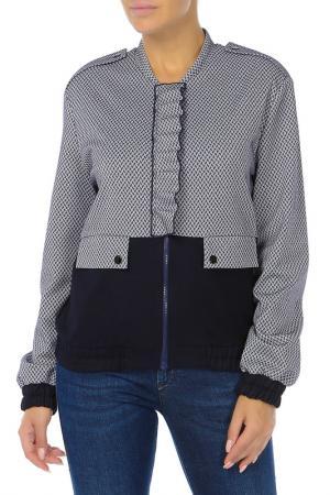 Куртка Adzhedo. Цвет: синий, рябушка