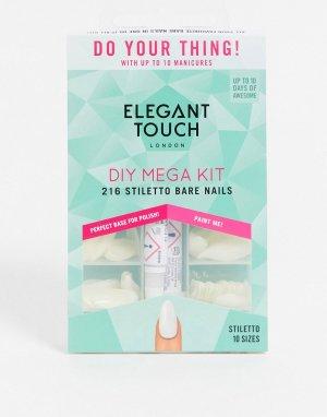 Набор с накладными ногтями -Бесцветный Elegant Touch