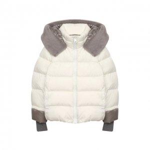Пуховая куртка Herno. Цвет: белый