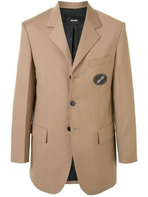Пиджак оверсайз We11done. Цвет: коричневый