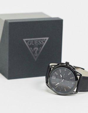 Часы с черным циферблатом -Черный Guess