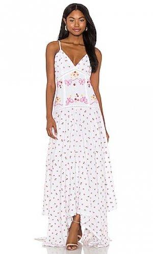 Платье fifer LoveShackFancy. Цвет: белый