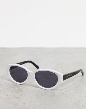 Черно-белые солнцезащитные очки в овальной оправе -Белый Marc Jacobs