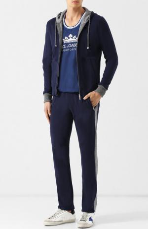 Спортивный костюм из смеси хлопка и кашемира Capobianco. Цвет: темно-синий