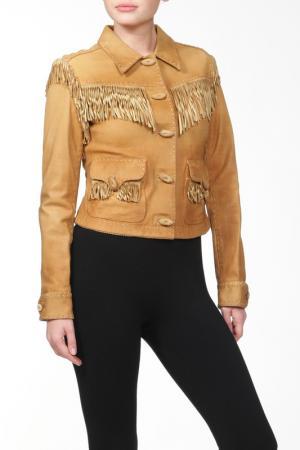 Куртка кожаная Ralph Lauren Blue. Цвет: мультицвет