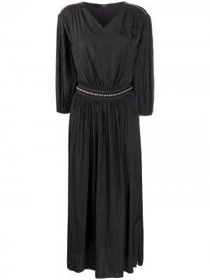 Платье миди с заклепками Steffen Schraut. Цвет: черный
