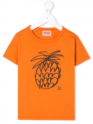 Pineapple print T-shirt Bobo Choses. Цвет: оранжевый