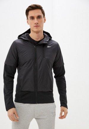 Куртка утепленная Reebok OW TW+GRPHN HBRD JKT. Цвет: черный