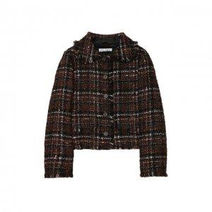 Твидовый жакет Dolce & Gabbana. Цвет: коричневый