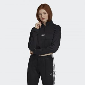 Свитер Half-Zip Originals adidas. Цвет: черный