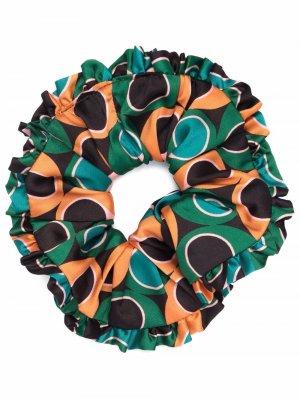 Резинка для волос в горох La DoubleJ. Цвет: зеленый