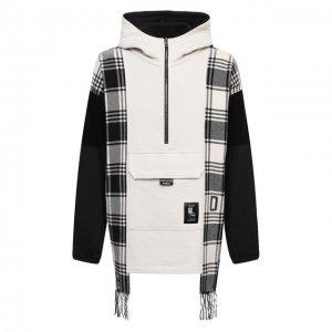 Анорак из шерсти и хлопка Dolce & Gabbana. Цвет: чёрно-белый