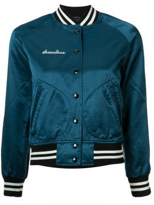 Куртка-бомбер Shameless R13. Цвет: синий