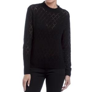 Пуловер ажурный из трикотажа FREEMAN T. PORTER. Цвет: черный