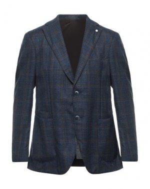 Пиджак LUIGI BIANCHI Mantova. Цвет: синий
