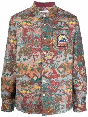 Рубашка Aurina с длинными рукавами Napapijri. Цвет: красный