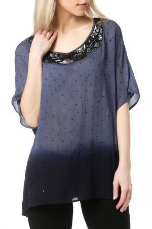 Блуза DEBY DEBO. Цвет: синий