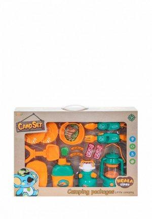 Набор игровой Givito для пикника детская посуда Туриста 14 предметов. Цвет: разноцветный