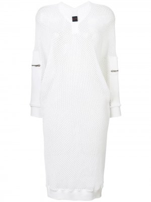 Спортивное сетчатое платье миди Jean Paul Gaultier Pre-Owned. Цвет: белый
