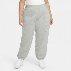 Женские флисовые брюки Sportswear Trend (большие размеры) - Серый Nike